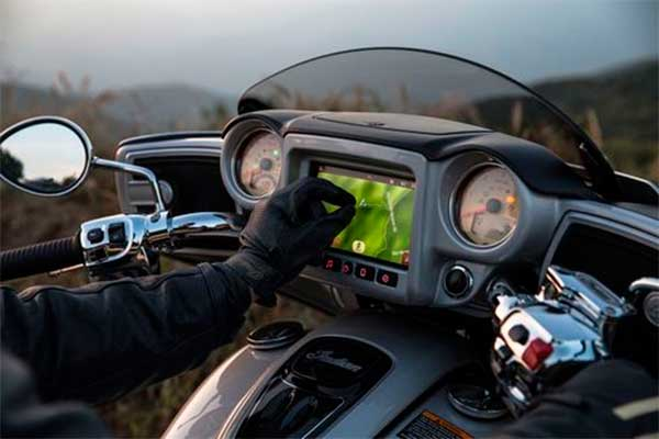 Indian Motorcycles - Nuevo control de ruta con pantalla táctil