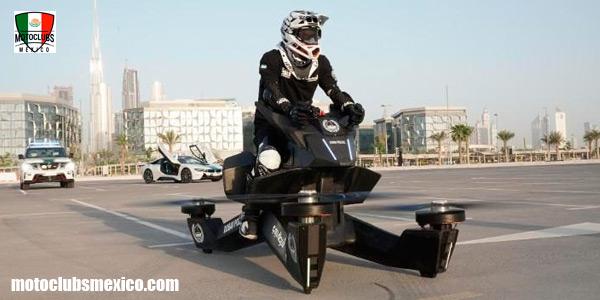La policía de Dubái está cambiando a motocicletas voladoras.